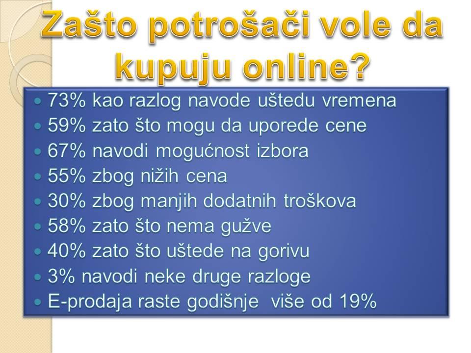 Prednosti online prodavnica